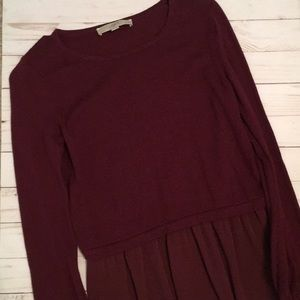 Wine colored sweater from Loft